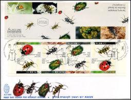 Israël - FDC -  Postzegelboekje Insecten - FDC