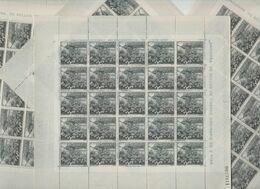 ANDORRA C. ESPAÑOL 4 HOJAS EN PERFECTO ESTADO  100 SELLOS DEL AÑO 1963-64 (C.E..H.) - Andorra Española