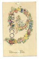 Bonne Fête. 9 Ans Petite Fille Blonde,guirlande De Fleurs, Escargot. Signée Frans Pessers . Tilburg. Série1 A9 - Compleanni