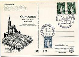 CONCORDE Strasbourg 4 Novembre 1979. Liaison Conseil De L'Europe - Airplanes
