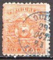 Ecuador Used Stamp From 1872 - Ecuador