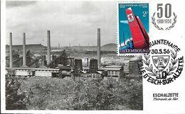 Luxembourg - Maximumkarten 1956 - ESCH-ALZETTE , Métrope Du Fer - Maximum Cards