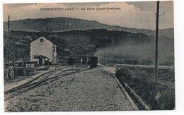 83 - FIGANIERES -  La Gare  - ( Sud-France )   Peu Commune  -  CPA  ( Z ) - Altri Comuni