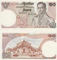 (B0040) THAILAND, 1969-1978 (ND). 10 Baht. P-83. UNC - Thailand