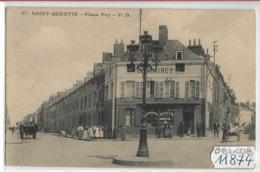 111874  FRD02  AK/PC/CPA SAINT QUENTIN PLACE FOY EPICERIE   NON CIRCULER - Saint Quentin