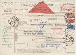 Italien - Napoli 1963 Nachnahme Paketkarte N. BELGIEN - Italy