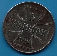 Oberbefehlshaber Ost 3 Kopecks 1916 J KM# 23 Wilhelm II Military Coinage - [ 2] 1871-1918: Deutsches Kaiserreich