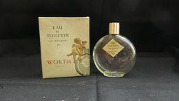 """Flacon à Parfum Ancien De Collection Dans Sa Boite """" Je Reviens """" Worth , Signé Lalique - Flacons (vides)"""