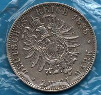 DEUTSCHES REICH PREUSSEN 2 MARK 1888  KM# 510 Silver .900 Argent Friedrich III DEUTSCHER KAISER KÖNIG V. PREUSSEN - [ 2] 1871-1918: Deutsches Kaiserreich