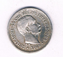 5 CENTIMES 1908 LUXEMBURG /7047/ - Lussemburgo