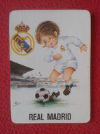 SPAIN CALENDARIO DE BOLSILLO 1974 REAL MADRID CLUB DE FÚTBOL GALERÍAS ARAGONESAS TEJIDOS ZARAGOZA SOCCER FOOTBALL LIGA.. - Kalender
