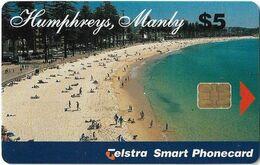 Australia - Telstra (Chip) - P Series 1997 Single Cards - Humphreys Manly - Exp. 02.2001, 5$, 5.000ex, Used Rare! - Australië