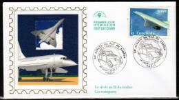 """"""" LE CONCORDE """" Sur Enveloppe 1er Jour En Soie  N° YT 3471. Parfait état. FDC - Concorde"""