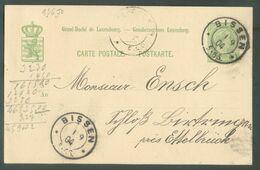 E.P. Carte 5 Centimes Obl. Dc BISSEN Du 1/09/1904 Vers Ettelbruck - 15992 - Entiers Postaux