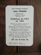 Kalender 1977  VOTRE  CONSEILLER Communal  JULES  PAQUES - Kalender