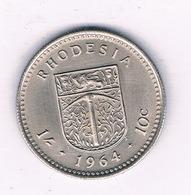 10 CENT 1964 RHODESIIE /7056/ - Rhodesia