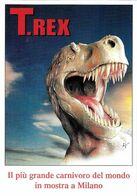 ANIMAL ANIMAUX DINOSAURE T. REX LE PLUS GRAND CARNIVORE EDIT. PROMOCARD N° 1121 - Non Classificati
