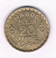 20 FRANCS  1371 AH MAROKKO /7059/ - Marocco