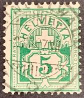 5 Rp. 65B: Stampel: GRINDELWALD BE: 02.XII.1907 - Gebraucht