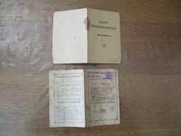 AUSWEIS ET BERUFSKARTE AMIENS POCHON JEROMINE 28 AOUT 1944 ET 24 AOUT 1944 - Dokumente