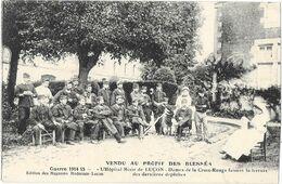 Luçon (85) Hopital Militaire Guerre 1914-18 Dame De La Croix Rouge Faisant La Lecture Belle Animation - Lucon