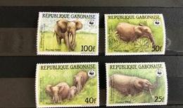RÉPUBLIQUE GABONAISE GABON WWF 1988 4 V Neuf ** YT 640 641 642 643 Elephant  Wildlife Mammifère Mammal Mamífero GABUN - Elefanti