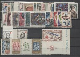 FRANCE ANNEE COMPLETE 1964 MNH Neufs + PA44 - Francia