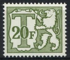 TX 83P5a - Klein Waardecijfer - 20F Olijfgrijs - EPACAR Papier - Stamps
