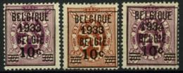 België 375A/76 (*) - Heraldieke Leeuw - Nieuw Zonder Gom - Neuf Sans Gomme - New Without Gum - Unused Stamps