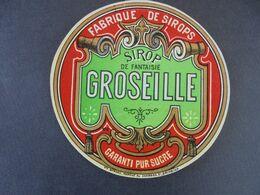 ETIQUETTE - FABRIQUE DE SIROPS : SIROP FANTAISIE DE GROSEILLE - Labels