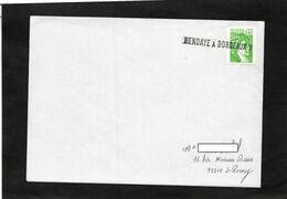 LSC - Oblitération Linéaire  HENDAYE  à  BORDEAUX B Sur YT 2157 - Bahnpost