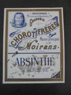 ETIQUETTE - ABSINTHE SUPERIEUR - CHOROT FRERES, MOIRANS, 38, ISERE - Non Classés