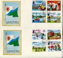 Lesotho Mi# 697-704 Used On Official FDC - Cartoon Disney - Lesotho (1966-...)