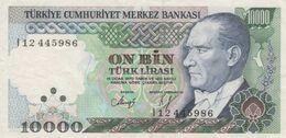 (B0052) TURKEY, L.1970 (1989 ND). 10000 Lira. P-200. VF - Türkei