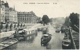 Paris (75) - Quai Des Orfèvres - Péniches - France