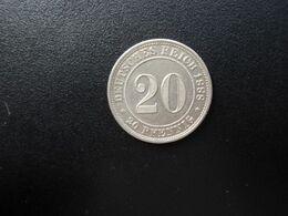 ALLEMAGNE * : 20 PFENNIG   1888 E     KM 9.1      SUP - [ 2] 1871-1918: Deutsches Kaiserreich