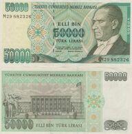 (B0070) TURKEY, L.1970 (1995 ND). 50000 Lira. P-204. XF - Türkei