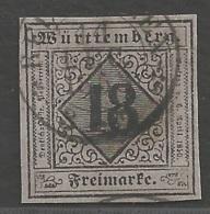 Württemberg  Michel Nummer 5 I  Gestempelt Geprüft - Wurttemberg