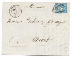 TIMBRES N° 60/1;GRANDE CASSURE ; LETTRE OBLITÉRÉE AVEC 144 A2 ; 6ème état; TTB - 1871-1875 Cérès