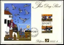2003-4 - FDS - 3157/58 + BL102 - Volkssporten - Duivensport - 2001-10