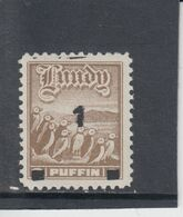 #L58 Great Britain Lundy Island Puffin Stamp 1969 Overprint 1p Black On 9p Mint - Albatrosse & Sturmvögel