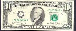 USA 10 Dollars 1990 J  - UNC # P- 486 < J - Kansas City MO > - Biljetten Van De  Federal Reserve (1928-...)