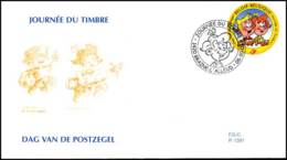 [F7901] 3023 - FDC - Dag Van De Postzegel - Stam En Pilou #2 P1391 - FDC