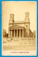 PHOTO Photographie CAB (Format Cabinet) Henriot Opticien - EGLISE St SAINT-VINCENT De PAUL 75010 PARIS - Places