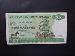 ZIMBABWE : 5 DOLLARS   1983    P 2c      TTB+ - Zimbabwe