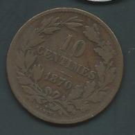 Luxembourg 10 Centimes 1870 - Laupi 13909 - Lussemburgo