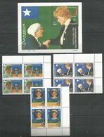 4x SOMALIA - MNH - Famous People - Teresa - Diana - Moeder Teresa