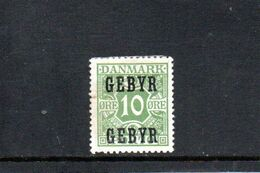 DANEMARK 1923 * - Segnatasse