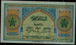 MOROCO 1943 BANKNOTES 100 FRANK VF!! - Marruecos