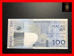 MACAU BANCO NACIONAL ULTRAMARINO 100  Patacas  8.8.2005 P. 82  UNC - Macau
